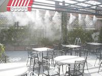 agua nebulizada para terraza