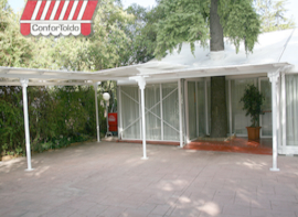 Pérgola de pared 083