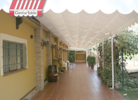 Pérgola de pared 090