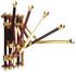 Herrajes con terminaciones en dorado en 5 colores diferentes