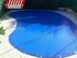 Cobertores de piscina en lona de pvc bicolor azul y negra