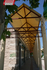Pasadizo con cubierta de lona tensada de PVC beige