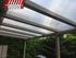 Cubierta con techo de policarbonato