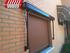 Toldo modelo portada tipo cofre cerrado lacado marron para ventana pequeña
